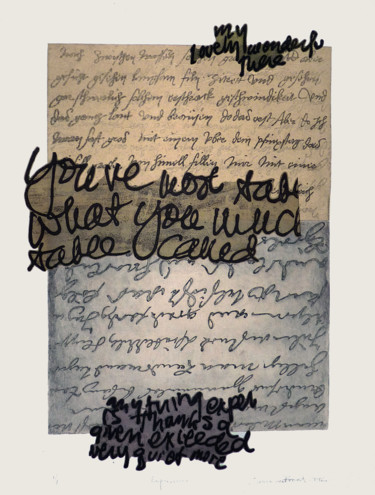 Printmaking, etching, calligraphy, artwork by Laurence Prévost