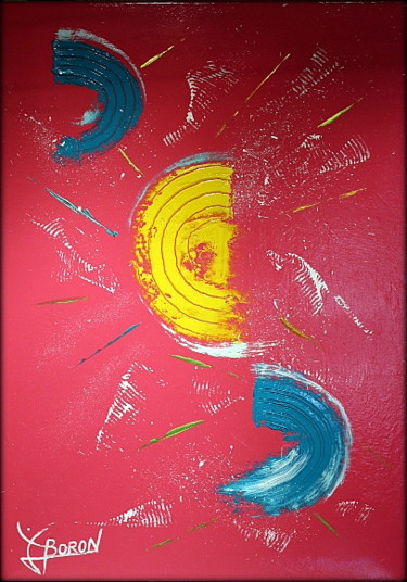 Spirituality Painting, oil, abstract, artwork by Laurent Boron