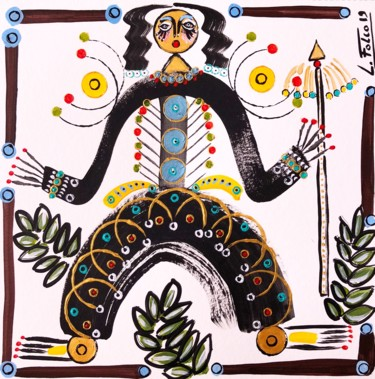 """Painting titled """"Zulu2"""" by Laurent Folco, Original Art, Acrylic"""