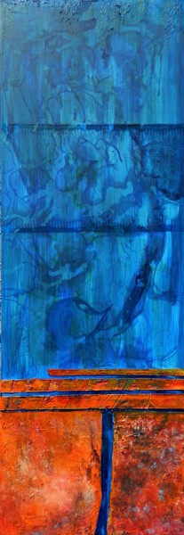 """Painting titled """"Earth and water"""" by Sorin Niculae Lazar, Original Art, Acrylic Mounted on Stretcher frame"""