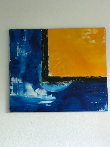 """Painting titled """"When night and day…"""" by Laura Casini, Original Art, Acrylic"""