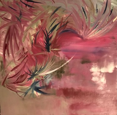 """Painting titled """"Exhanges"""" by Laura Casini, Original Art, Acrylic"""