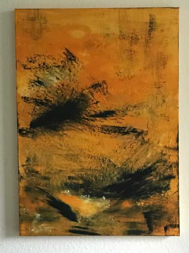 """Painting titled """"""""Trying to fly"""""""" by Laura Casini, Original Art, Acrylic"""