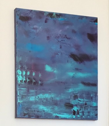 """Painting titled """"Cold boreal"""" by Laura Casini, Original Art, Acrylic"""