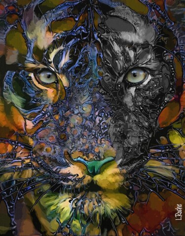 """Painting titled """"Tigre 6500 - Mix me…"""" by L.Roche, Original Art, Acrylic"""