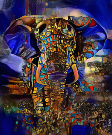 """Painting titled """"Dumbo Azul - Mix me…"""" by L.Roche, Original Art, Acrylic"""