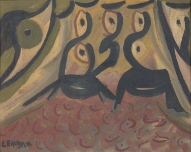 11.8x15.8 in ©1974 by Ezechiele Leandro (1905-1981)