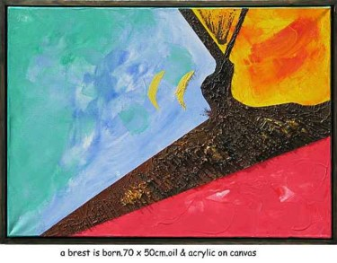 """Painting titled """"a brest is born"""" by Left Hand Georges, Original Art,"""