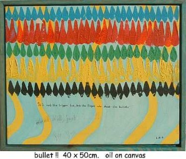 """Painting titled """"bullet"""" by Left Hand Georges, Original Art,"""