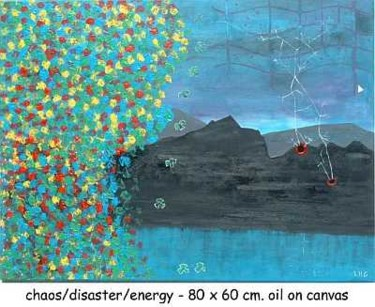 """Painting titled """"chaos-disaster-ener…"""" by Left Hand Georges, Original Art,"""