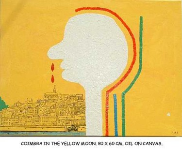 """Painting titled """"coimbra in the yell…"""" by Left Hand Georges, Original Art,"""