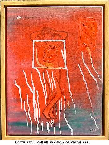 """Painting titled """"do you still love me"""" by Left Hand Georges, Original Art,"""