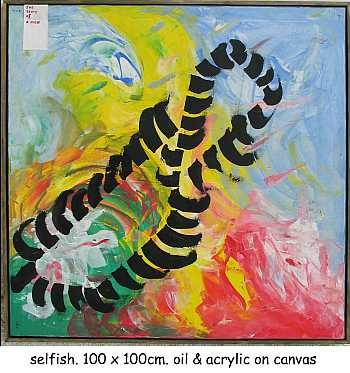"""Painting titled """"Selfish"""" by Left Hand Georges, Original Art,"""