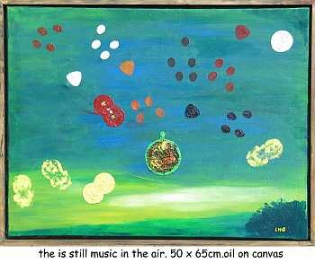 """Painting titled """"the is stll music i…"""" by Left Hand Georges, Original Art,"""