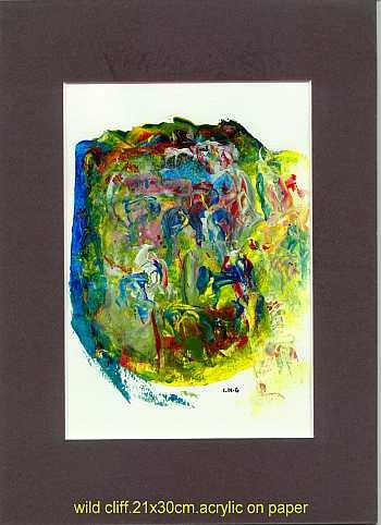 """Painting titled """"wild clif"""" by Left Hand Georges, Original Art,"""