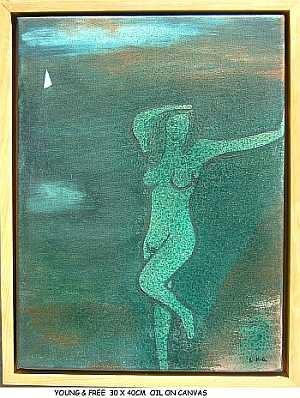 """Painting titled """"YOUNG & FREE"""" by Left Hand Georges, Original Art,"""