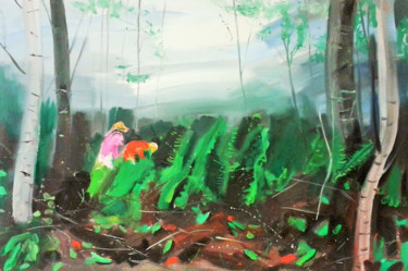 Kid Painting, oil, abstract, artwork by Tius