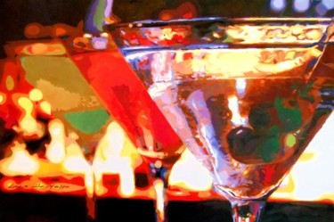 """Painting titled """"Martinis"""" by Lelia, Original Art,"""