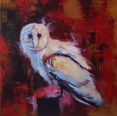 Bird Painting, oil, abstract, artwork by Julia Good