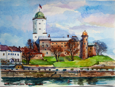 """Painting titled """"Ancient castle. Vyb…"""" by Elena Tolunay, Original Art, Watercolor"""