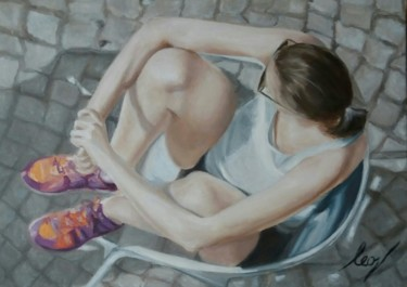 Painting, oil, figurative, artwork by Leonardo Venezia