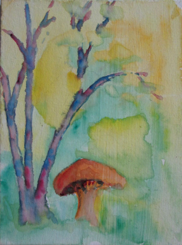 Painting, watercolor, artwork by Lesley Braren