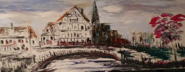 """Painting titled """"Strasbourg petite F…"""" by Pascal Jung, Original Art, Oil"""