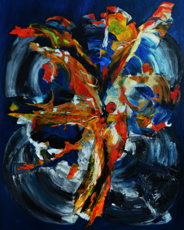 Color Painting, oil, abstract, artwork by Anna Forycka- Putiatycka