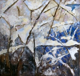 """Painting titled """"""""Winter 2010/2011"""""""" by Anna Forycka- Putiatycka, Original Art, Oil"""