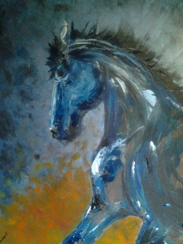 """Painting titled """"Cheval"""" by lilichacha, Original Art,"""
