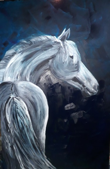 """Painting titled """"Cheval"""" by lilichacha, Original Art, Acrylic"""