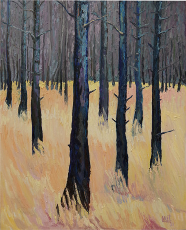 """Painting titled """"Forest"""" by Lilit Vardanyan, Original Art, Oil"""