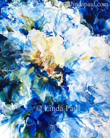 """Painting titled """"Blue Abstract Canva…"""" by Linda Paul, Original Art, Acrylic"""