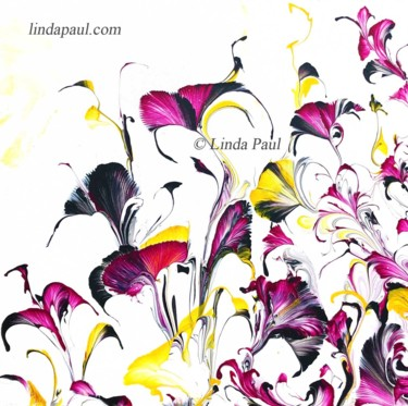 """Painting titled """"Floral Dance Party…"""" by Linda Paul, Original Art, Acrylic"""