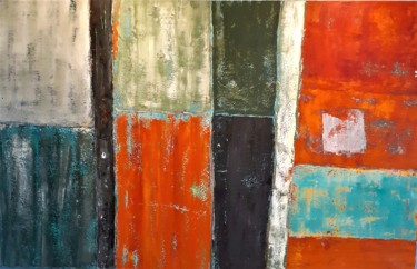 Painting, acrylic, abstract, artwork by Lyne Mangin