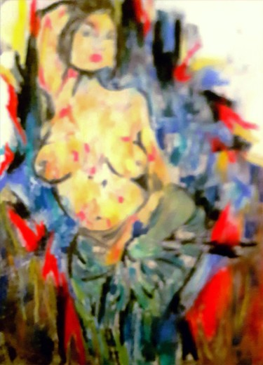 """Painting titled """"Muse"""" by Lisa Manni, Original Art, Charcoal"""