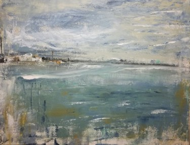 """Painting titled """"Ordinary shore"""" by Lisa Steeven, Original Art, Acrylic"""