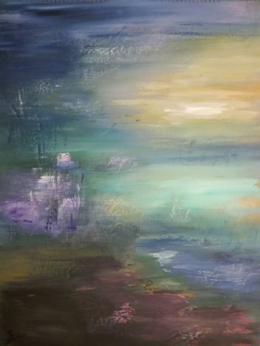 """Painting titled """"Morning mist"""" by Lisa Steeven, Original Art, Acrylic"""