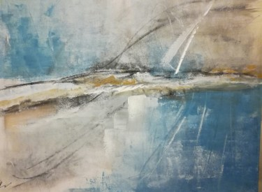 """Painting titled """"Edge of coast"""" by Lisa Steeven, Original Art, Acrylic"""