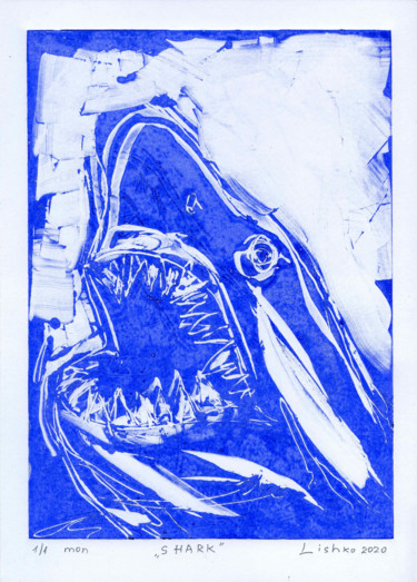 Animal Printmaking, monotype, abstract, artwork by Vitaliy Lishko