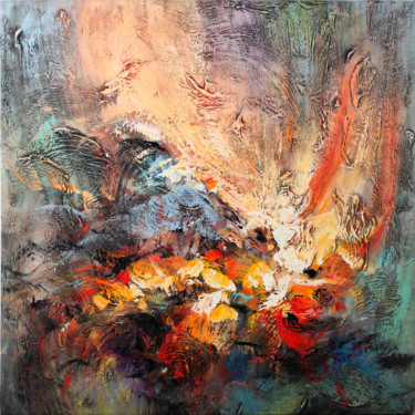 Painting, oil, abstract, artwork by Liss Art Studio