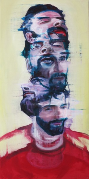 Men Painting, oil, figurative, artwork by Li Suntta
