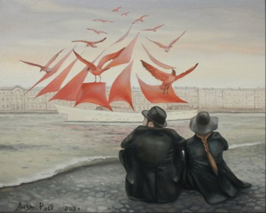 """Painting titled """"Scarlet Sails"""" by Лиза Рэй, Original Art, Oil"""