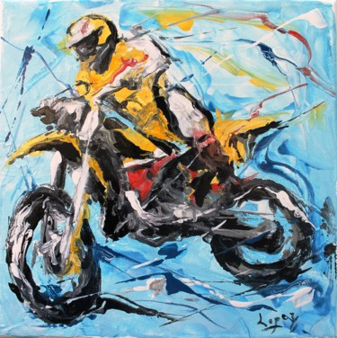 Sport Painting, lacquer, figurative, artwork by Jean-Luc Lopez