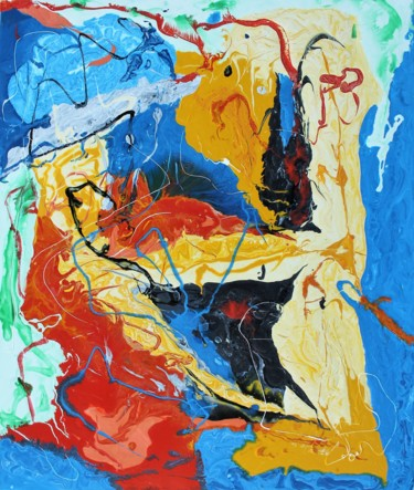 Abstract Painting, lacquer, abstract, artwork by Jean-Luc Lopez