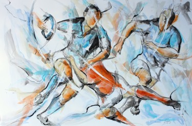 Sport Painting, ink, figurative, artwork by Jean-Luc Lopez