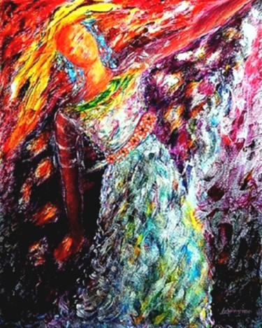 """Painting titled """"The Flying in Me is…"""" by ▪▪ Lorenzina B ▪▪, Original Art, Acrylic"""