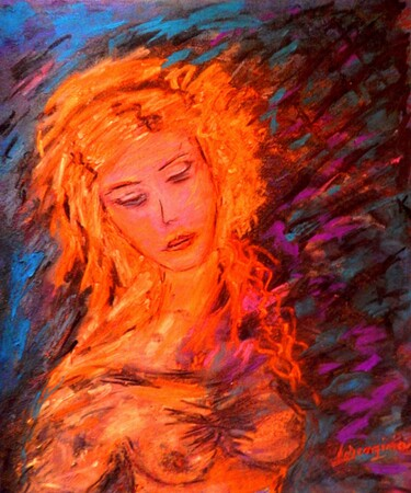 """Painting titled """"Come to Me..."""" by ▪▪ Lorenzina B ▪▪, Original Art, Pastel"""