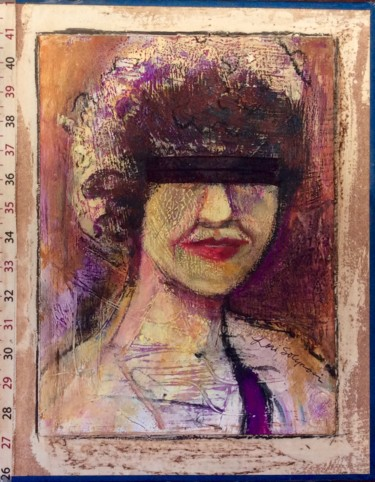 """Painting titled """"#3 Lady Justice"""" by Lori Solymosi, Original Art,"""