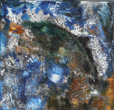 """Painting titled """"20-I-23 Dolphin abs…"""" by Lora Pavlova, Original Art, Oil"""